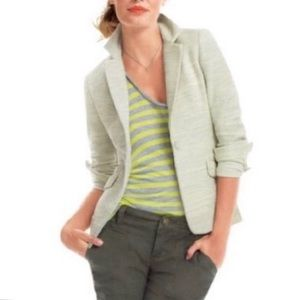 CAbi #713 One Fine Day Lemon Zest Tweed Blazer 10